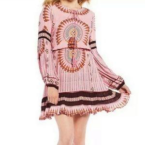 🌵NWT Boho Gypsy Tribal Dress in Blush Pink